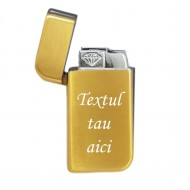 Bricheta personalizata aurie antivant gravata cu textul tau e2