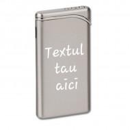 Bricheta personalizata metalica gravata cu textul tau