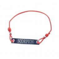 Bratara rosie cu snur ajustabil zodia scorpion