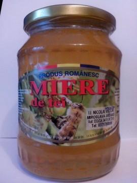 Miere de albine naturala, de tei, borcan de 1.25 kg