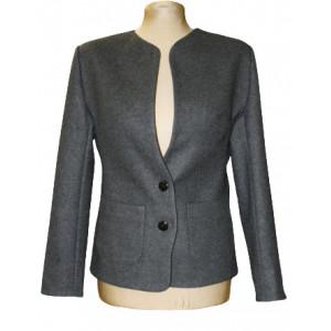 Jachetă stofă gri sau neagră.