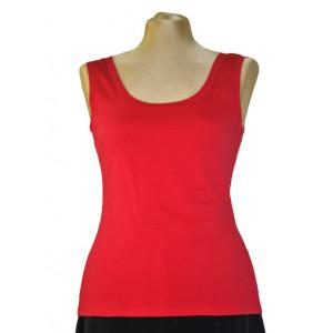 Top tricot roșu.