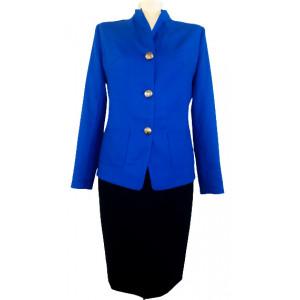 Jachetă stofă albastră.
