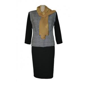 Jachetă stofă carouri, sacou, compleuri damă
