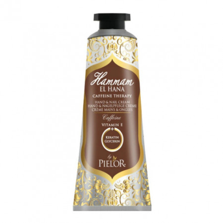 Crema de maini si unghii Pielor Hammam El Hana Caffeine Therapy, 30 ml