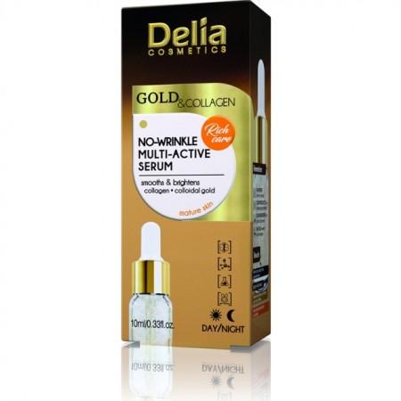Ser de fata antirid Delia Cosmetics multi-active Gold Collagen