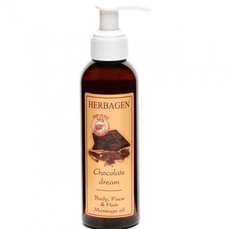 Ulei de masaj Herbagen pentru corp, ten si par Capilar Chocolate Dream