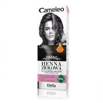 Vopsea de par Henna Creme Delia Cosmetics Cameleo 1.0 black