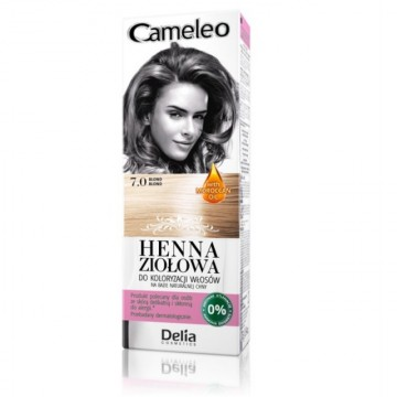 Vopsea de par Henna Creme Delia Cosmetics Cameleo 7.0 blond