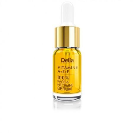 Ser pentru fata si decolteu Delia Cosmetics cu vitamine