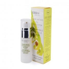 Crema antirid de noapte Herbagen cu celule stem