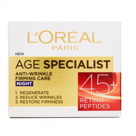 Crema antirid de noapte L'Oreal Paris Age Specialist 45+