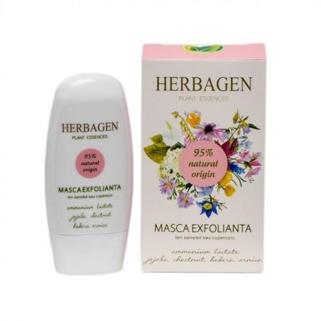 Masca de fata exfolianta Herbagen, ten sensibil si cuperozic