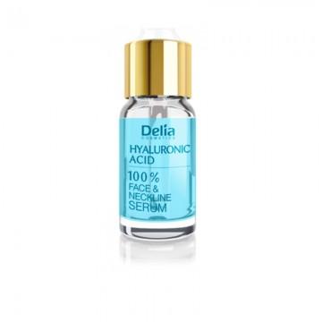 Ser pentru fata si decolteu Delia Cosmetics cu acid hialuronic