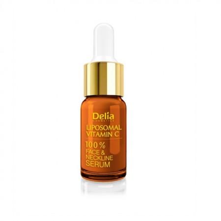 Ser pentru fata si decolteu Delia Cosmetics cu Vitamina C lipozomal