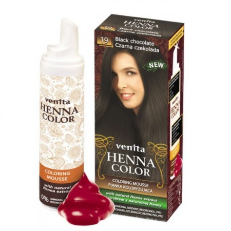 Spuma de par coloranta Venita cu Henna nr 19 black chocolate