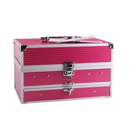 Trusa de machiaj profesionala Miss Rose pink