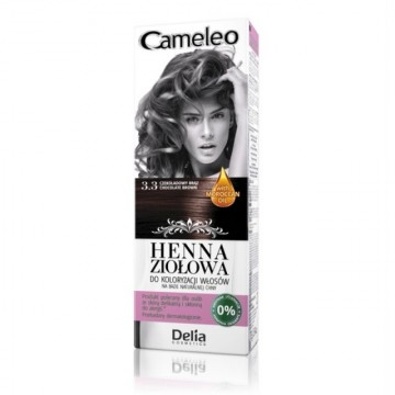 Vopsea de par Henna Creme Delia Cosmetics Cameleo 3.3 chocolate brown