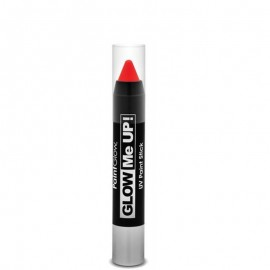 Creion machiaj neon reactiv UV Paint Stick PaintGlow Red