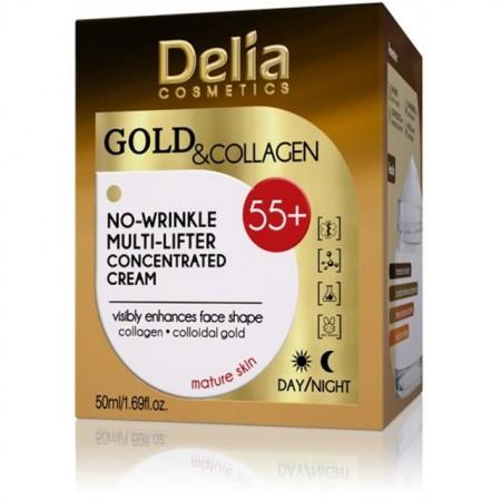 Crema de fata antirid Delia Cosmetics multi-lifter Gold Collagen