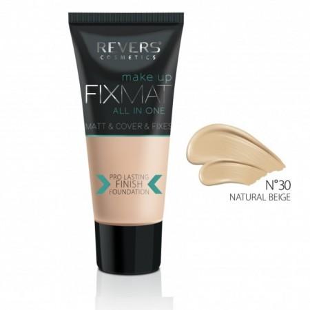 Fond de ten Revers Cosmetics FixMat All In One 30 Natural Beige, 30 ml