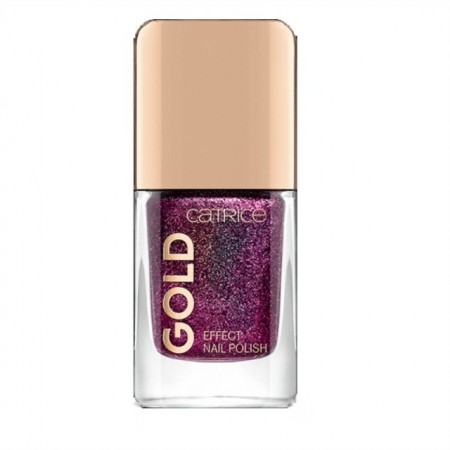 Lac de unghii Catrice, Gold Effect Nail Polish 07 Lustrous Seduction red, 10.5 ml