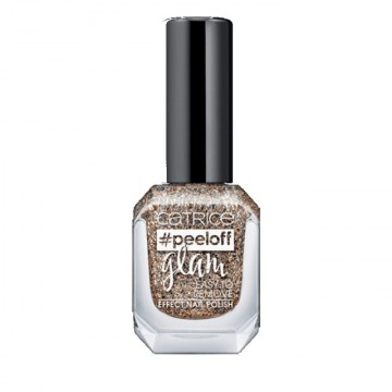 Poze Lac de unghii Catrice peeloff glam Easy To Remove Effect Nail Polish 03 When In Doubt, Just Add Glitter