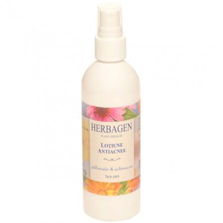 Lotiune antiacnee Herbagen cu extract de galbenele si echinacea