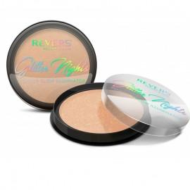 Pudra iluminatoare cu sclipici Glitter Nights Revers Cosmetics 01
