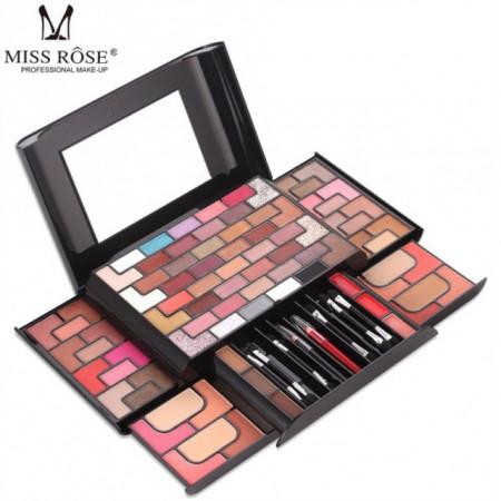 Trusa machiaj multifunctionala Miss Rose 3D makeup kit