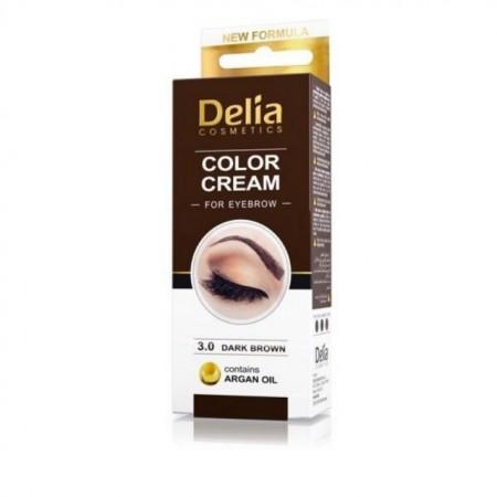 Vopsea Crema de sprancene Henna Delia Cosmetics dark brown