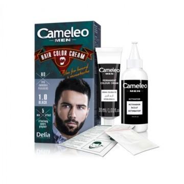 Vopsea de par Delia Cameleo MEN, barba si mustata pentru barbati 1.0 black