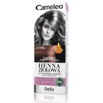 Vopsea de par Henna Creme Delia Cosmetics Cameleo 4.0 brown