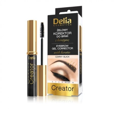 Gel corector pentru sprancene Delia Cosmetics 4 in 1 black