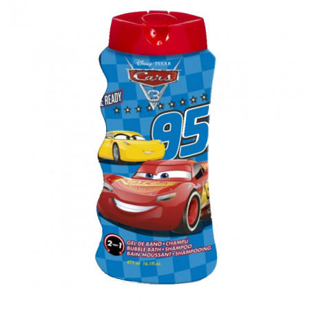 Gel de dus si Sampon copii Cars 2 in1, 475 ml