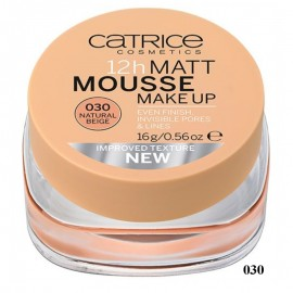 Poze Fond de ten Catrice Matt 12h Mousse make-up 30 Natural Beige