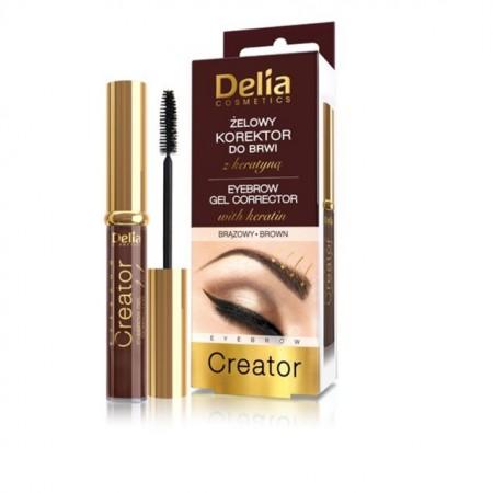 Gel corector pentru sprancene Delia Cosmetics 4 in 1 brown