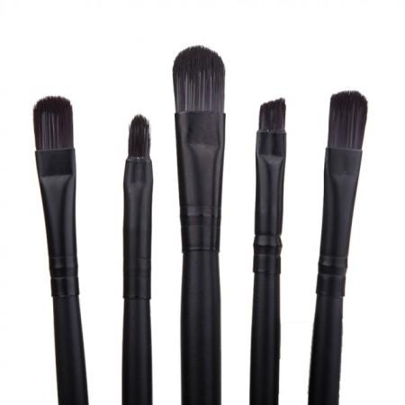 Set pensule machiaj Lila Rossa, negru