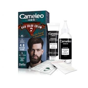 Vopsea de par barbati , barba si mustata Delia Cameleo MEN 4.0 medium brown
