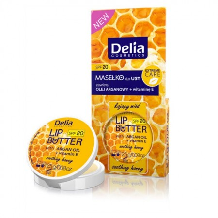 Balsam de buze Delia Cosmetics Lip Butter honey SPF 20