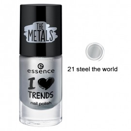 Poze Lac de unghii Essence I love TRENDS nail polish 21 steel the world