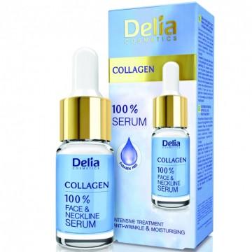 Ser pentru fata si decolteu Delia Cosmetics cu collagen