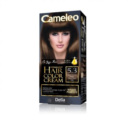 Vopsea de par Delia Cosmetics Cameleo, 5.3 Light Golden Brown