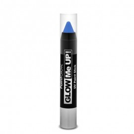 Poze Creion machiaj neon reactiv UV Paint Stick PaintGlow Blue