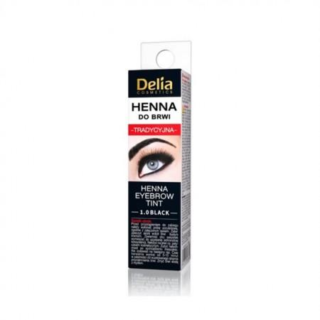 Henna pentru sprancene traditionala Delia Cosmetics black