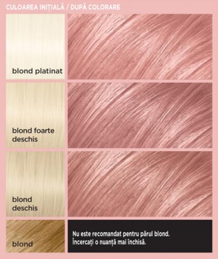 cum va iesi pe par blond Rose Gold