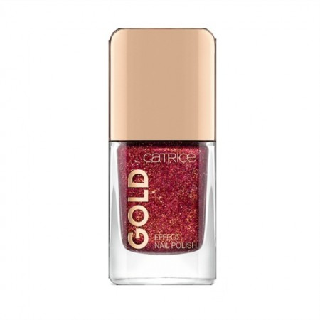 Lac de unghii Catrice, Gold Effect Nail Polish 01 Attracting Pomp pink, 10.5 ml