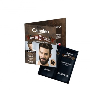 Poze Nuantator de par Grey OFF Delia Cameleo MEN, barba si mustata pentru barbati 5.0 light brown