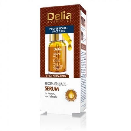 Ser pentru fata si decolteu Delia Cosmetics cu ulei de argan