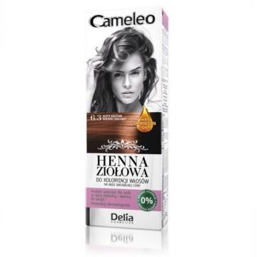 Vopsea de par Henna Creme Delia Cosmetics Cameleo 6.3 golden chestnut